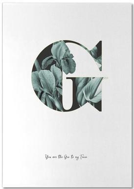 Flower Alphabet - G Bloc-notes