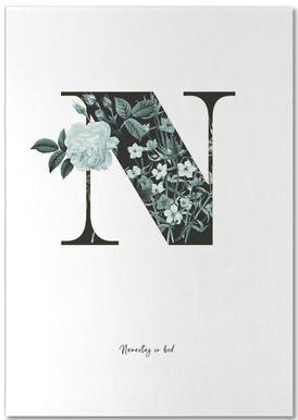 Flower Alphabet - N notitieblok