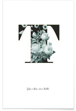 Flower Alphabet - T Poster