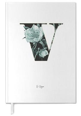 Flower Alphabet - V Personal Planner
