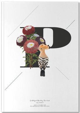 Botanical Alphabet - P Notizbuch