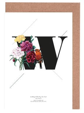 Botanical Alphabet - W wenskaartenset