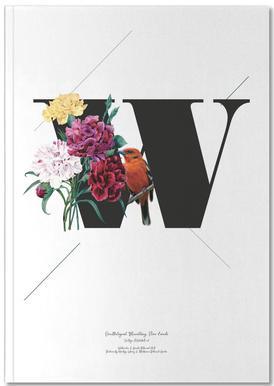 Botanical Alphabet - W Notitieboekje