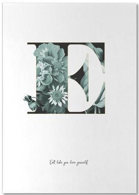 Flower Alphabet - E Bloc-notes