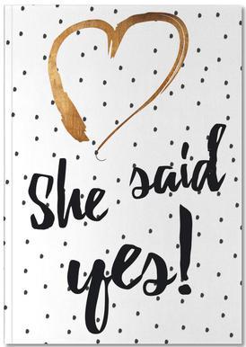She Said Yes Notitieboekje