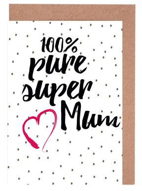 Super Mum Set de cartes de vœux