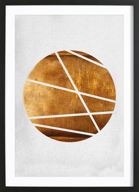 Circle ingelijste print