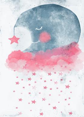 Sleeping Moon Impression sur toile
