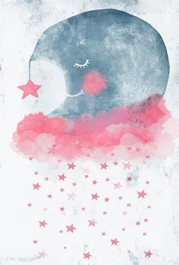 Sleeping Moon Impression sur alu-Dibond