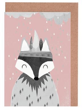 Regenmacher Rosa Set de cartes de vœux