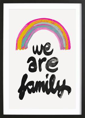 We Are Family affiche encadrée