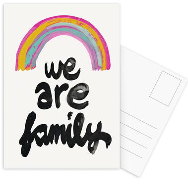 We Are Family Postcard Set