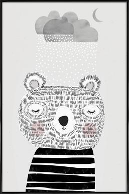 I Love Snow Affiche sous cadre standard