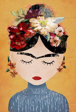 Frida tableau en verre