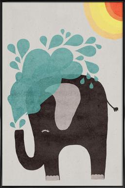 Funny Elephant 2 Affiche sous cadre standard