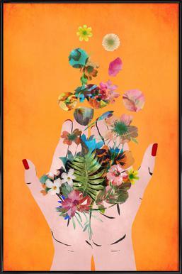 Frida's Hands Framed Poster
