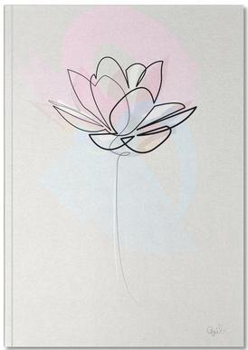 One Line Lotus Carnet de note