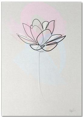 One Line Lotus bloc-notes