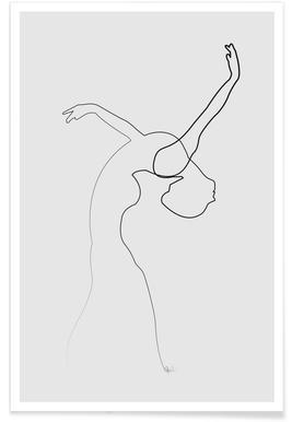 Dancer Line Drawing Poster