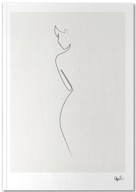 c98630266c5 One Line Nude as Poster by Quibe