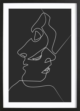 Close Noir -Bild mit Holzrahmen