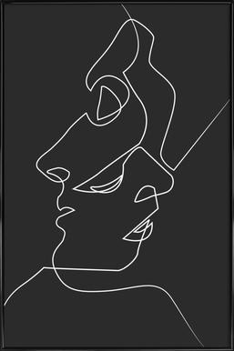 Close Noir -Bild mit Kunststoffrahmen