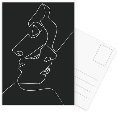 Close Noir Set de cartes postales