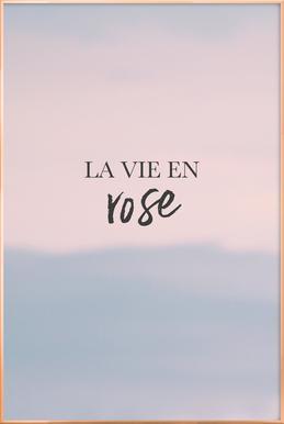 La Vie En Rose Poster in Aluminium Frame