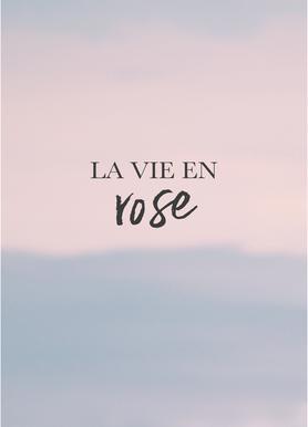La Vie En Rose toile