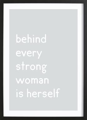Herself Framed Print