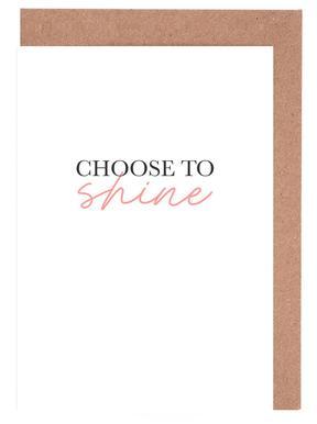 Choose To Shine cartes de vœux