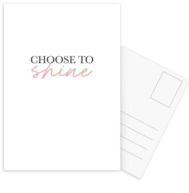 Choose To Shine Postcard Set
