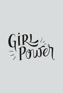 Girl Power tableau en verre