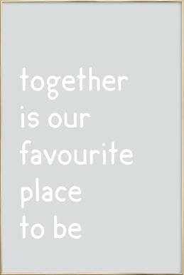 Together affiche sous cadre en aluminium