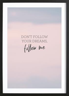 #Follow Framed Print