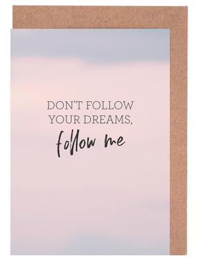 #Follow Greeting Card Set