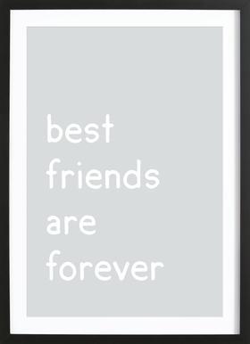 Friendship affiche sous cadre en bois