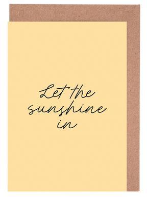 Let The Sunshine In cartes de vœux