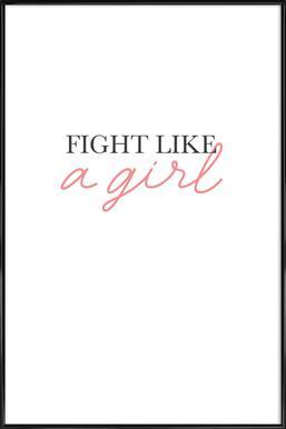Captivant Fight Like A Girl   JUNIQE   Affiche Sous Cadre Standard ...