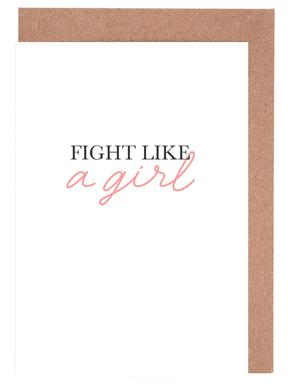 Fight Like A Girl cartes de vœux