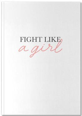 Fight Like A Girl Carnet de note