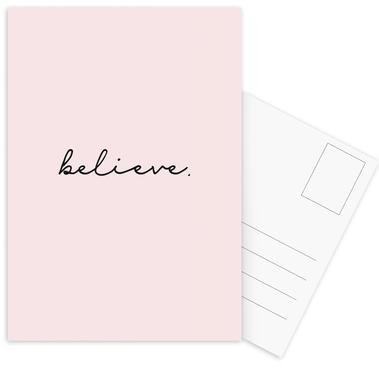 Believe cartes postales