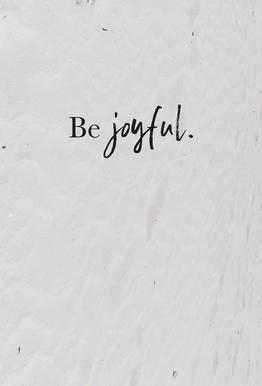 Be Joyful tableau en verre