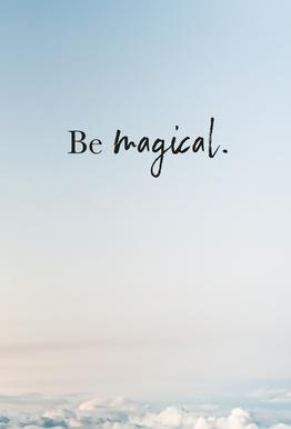 Be Magical tableau en verre