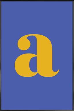 Blue Letter A affiche encadrée
