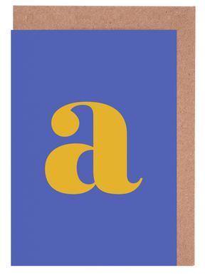 Blue Letter A cartes de vœux