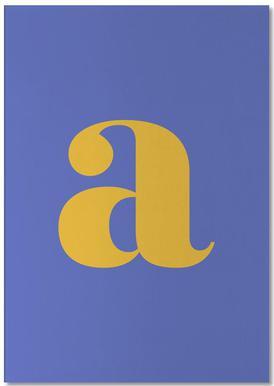 Blue Letter A bloc-notes