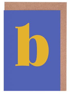 Blue Letter B cartes de vœux