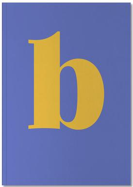 Blue Letter B Carnet de note
