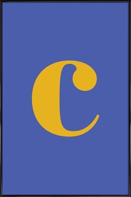 Blue Letter C affiche encadrée